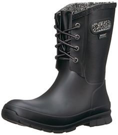 Bogs Womens Amanda Plush Snow Boot Black 8 M US >>> Read more reviews of the product by visiting the link on the image. (This is an affiliate link)