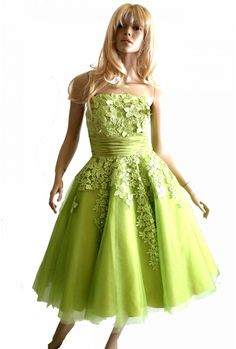 Jodie Lime Green Lace Prom Dress