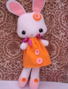 Penelope the cute handmade bunny with a modern twist $23  #bunny #handmade #cute #gift #plush