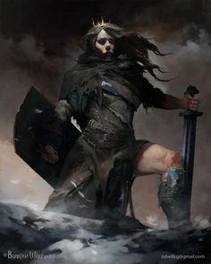 Shield Maiden by sidwill-cg.deviantart.com on @DeviantArt