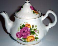 Mini Porcelain English Teapot by NikkiScraps on Etsy, $12.00