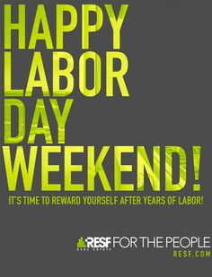 RESF's Happy Labor Day Weekend email blast.