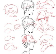 How to draw a cap
