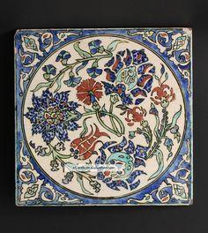 kutahya Pottery Tile, Ottoman Turkey