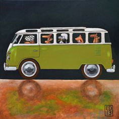 188 green T1   signed and numbered giclee print  14 x 14 by edart, $18.00