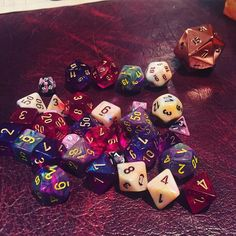 It was a D&D kind of weekend. #dungeonsanddragons #rpg ##dice by tabletoptracy http://ift.tt/1rIqjMX