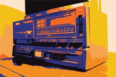 Photo of an old radio-tape-player. Photo/art: Mike Schulze ©2015