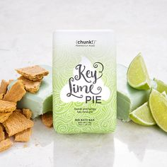 Need the key to cleanliness? Try our Key Lime Pie Chunk—a Roundtable on Sustainable Palm Oil base soap baked to perfection with oat bran, dry milk, and lime. Lather into hands and clean from head to toe, then rinse thoroughly. Works best when used often, so enjoy a slice at least once a day!