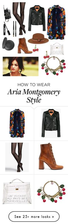 """""""Aria Montgomery pll"""" by happyolives on Polyvore featuring Gucci, Express, Prada, Ksubi, Hermès, Christys' and Youngblood Aria Montgomery Style, Pll Outfits, Pretty Little Liars, Pretty Dresses, Dress To Impress, Chloe, Prada, Gucci, Characters"""