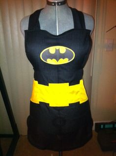 A Batman apron for Cameron for when he helps bake things