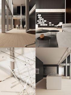 4 rooms - study on Behance