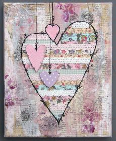 One Good Thing: Valentine mixed media canvas