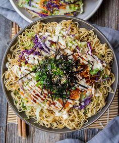 This Okonomiyaki Savory Pancake is paired with Lotus Foods Organic Millet & Brown Rice Ramen and packed with flavor. #okonomiyaki #pancake Ramen Noodle Bowl, Ramen Noodles, Gluten Free Ramen, Savory Pancakes, Food Website, Meatless Monday, Smoothie Recipes, Healthy Lifestyle, Easy Meals