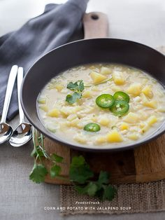 Corn and Potato with Jalapeno Soup