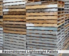 Abbey Pallets collect used and damaged pallets, recycle them and then reconditioned them for use. Used pallets are cost effective comparing to the new pallets. To buy used pallets visit our website.