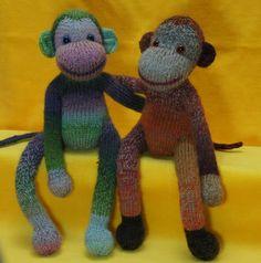 monkeys knit in the round from zijmaakthet