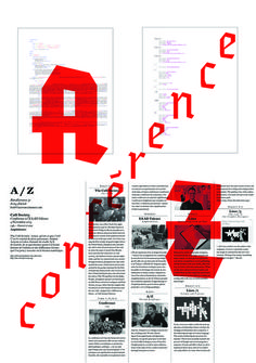 nice simplified blackletter; az poster by matthieu salvaggio