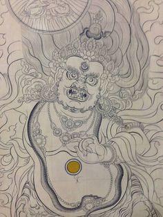 Thangka – Page 11 – New York Tibetan Art Studio Tibetan Tattoo, Tibetan Art, Tibetan Buddhism, Buddhist Art, Buddhist Wheel Of Life, 17th Century Art, Weird Tattoos, Thai Art, Hindu Art