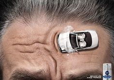 """Because life makes wrinkles"" - #Nivea Men: Worry Lines 