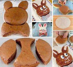 Pasta Kekine Tavşan Şekli Verme