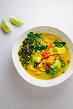 GOLDEN TOFU CURRY + BLACK RICE... A sweet & savory curry dish. The black rice adds a nice contrast to the colorful curried vegetables as well as adding a little extra nutrition. Enjoy!