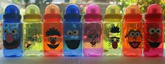 Sesame Street Character - 15oz Personalized Sports Water Bottle - For Kids - Party Favors, Gifts - Fun Colors. $5.00, via Etsy.