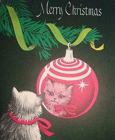kitties love ornaments