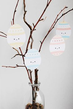 PRINTABLE EASTER EGG SEWING CARDS