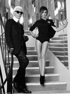 Karl Lagergeld and Victoria Beckham