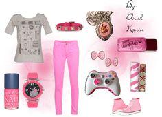 """Gamer Girl: Pink"" by ariel-karin on Polyvore"