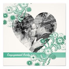 Dancing Daisies Engagement Party and Photo Custom Invites