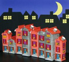 Saint Nicolaas Craft Houses made from Empty Milk packages. Sinterklaas Knutsel Huisjes gemaakt van Lege Melk Pakken.