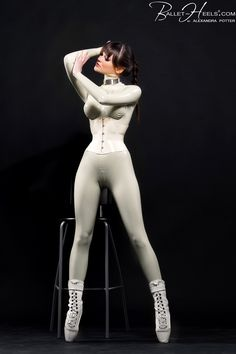 I love the Ballet Heels White Latex Catsuit and Corset  Alexandra Potter so pretty:-) ^-^