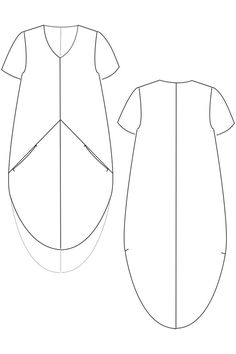 Sewing Pattern for a Cocoon Dress - easy to sew and beautiful Linen Dress Pattern, Dress Sewing Patterns, Sewing Patterns Free, Sewing Paterns, Simple Dress Pattern, Sewing Ideas, Cocoon Dress, Sewing Basics, Basic Sewing