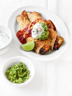 Chicken Crepes with Guacamole recipe, brought to you by MiNDFOOD