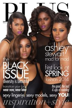 Size Diversity Isn't the Only Discrimination Hitting Full-Figured Models - PLUS Model Magazine Tackles the 'Black Issue' Plus Size Magazine, Model Magazine, My Black Is Beautiful, Beautiful Women, Beautiful Eyes, Curvy Fashion, Plus Size Fashion, Fashion Beauty, Fashion Shoot