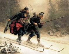 Scandinavians developed primitive skis at least 6,000 years ago. By the Viking Age, Norsemen regarded skiing as an efficient way to get around and a popular form of recreation. They even worshipped a skiing God, Ullr.