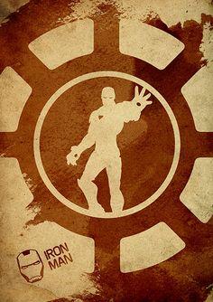 Avengers Iron Man Minimalist Movie Poster by moonposter on Etsy