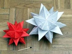 3D Origami star -- tutorial on page 2 - PAPER CRAFTS, SCRAPBOOKING & ATCs (ARTIST TRADING CARDS)