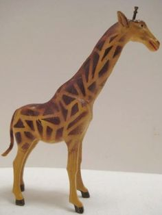 """Beautiful Antique Composition Toy 4  3/8"""" Giraffe Germany 1920s-1930s"""