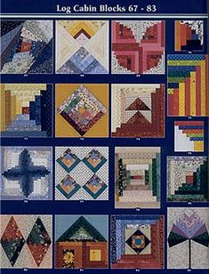 Log Cabin Blocks 76-83