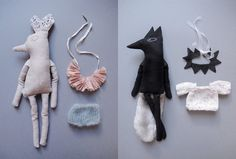 deer and wolf doll {Lucille}
