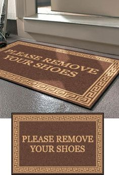 Please Remove Your Shoes Sign Vinyl Decal Sticker Doors House - Custom vinyl decals for wood   removal options