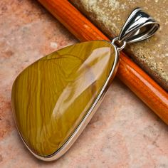 Checkout this amazing deal Natural Imperial Jasper Pendant with 925 Silver Chain,$12