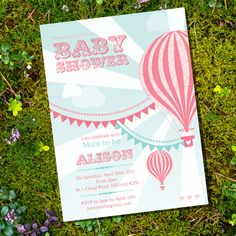 Vintage Hot Air Balloon Girl Baby Shower  by SunshineParties, $5.00