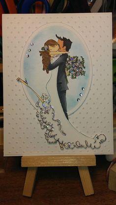 Upton's Nut Farm--Stamping Bella--Brett Brenda get Married Wedding Cards Handmade, Beautiful Handmade Cards, Muñeca Diy, Wedding Shower Cards, Hand Made Greeting Cards, Engagement Cards, Wedding Anniversary Cards, Wedding Scrapbook, Card Making Inspiration