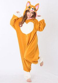 Kigurumi - SAZAC Corgi. So of course I want this for Halloween, but I need it in blue merle so that I can match my cardi