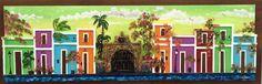 Artesanias de Puerto Rico capilla del Cristo y casitas del viejo San Juan old San Juan art and crafts