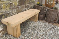 SIMPLE SOLID ENGLISH OAK GARDEN BENCH www.sustainable-furniture.co.uk