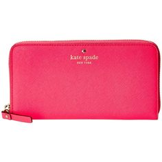 Kate Spade New York Cedar Street Lacey ($178) ❤ liked on Polyvore featuring bags, wallets, purses, kate spade, cabaret pink, wallets & accessories, zip-around wallet, continental wallet, accordion wallet and pink wallet